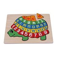 Dřevěné hračky - Písmenkové puzzle Želva