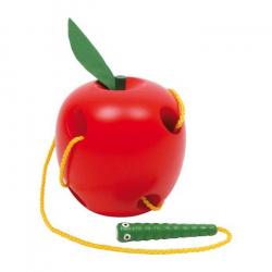 Drevená hračka - Jablko na prevliekanie