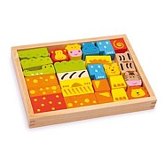 Dřevěné hračky - Stavební kostky Safari