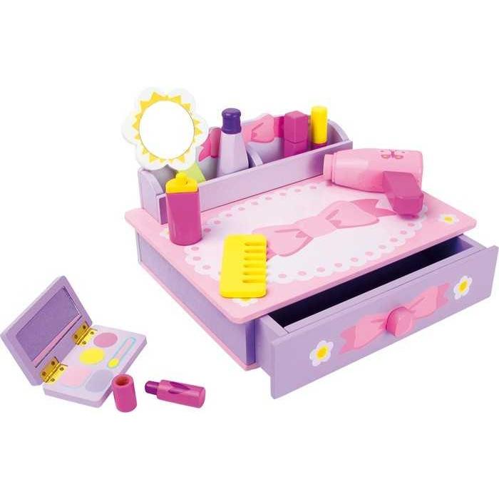Dřevěné hračky - Toaletní stolek Mašle