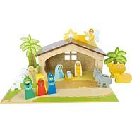 Drevené hračky - Detský drevený betlem