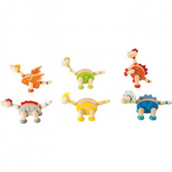 Small Foot Flexibilní dřevěná figurka dinosauři 1 ks