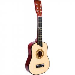 Dětská hračka dřevěná kytara přírodní