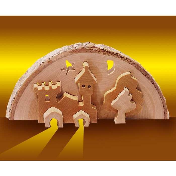 Small Foot Vánoční dekorace 3D zámek vč. čajové svíčky