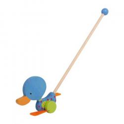 Ťahacie hračky - Kolébajúcí sa kačička modrá