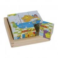 Dřevěné obrázkové kostky - Medvěd