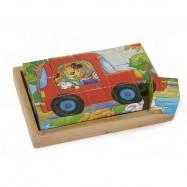 Dřevěné obrázkové kostky - Zábava se zvířaty