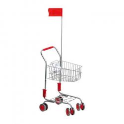 Nákupní vozík, stříbrný