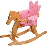 Dřevěný houpací koník s křesílkem