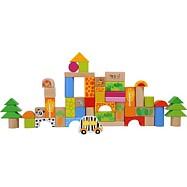 Drevené hračky - Drevené stavebné kocky Zoo
