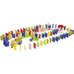 Legler Drewniane zabawki - Domino Rallye Zoo