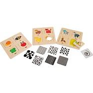 Dřevěné hračky -  Zábavné vkládací puzzle s měnícími vzory