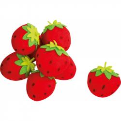 Plyšové potraviny - Jahody