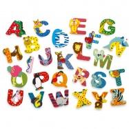 Dřevěná abeceda 1ks - písmenko K
