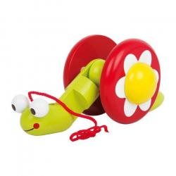 Drevené ťahacie hračky - Ťahacie šnek Elli