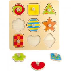 Drevená hračka - Drevené puzzle farebné tvary