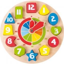 Drevené didaktické a motorické hodiny