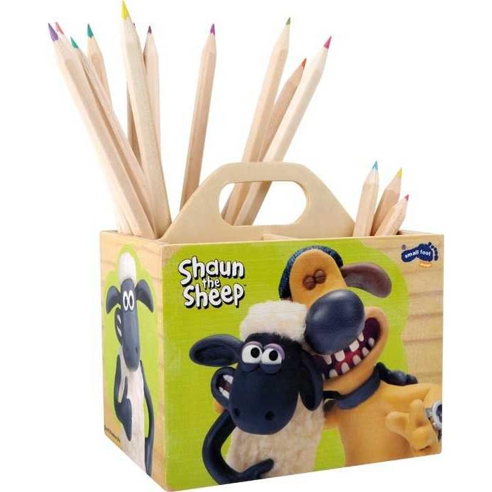 Dřevěný stojánek na tužky - Ovečka Shaun
