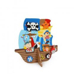 Drevená hračka - Prevliekacia hra Pirátska loď