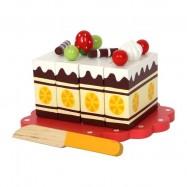 Drevená narodeninová krájacie torta
