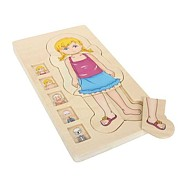 Dřevěné hračky - Puzzle Anatomie