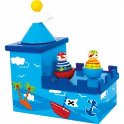 Drevené hračky - Drevená hracia pokladnička Olli a Bolli