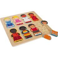 Dřevěné hračky -  Vkládací puzzle - Děti tohoto světa
