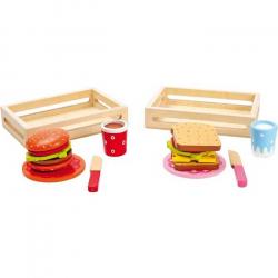 Dřevěné hračky - Hamburger a sendvič