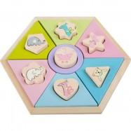 SFD Puzzle pastelowe zwierzątka