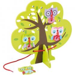 Drevená hračka - prevliekanie - Sovy