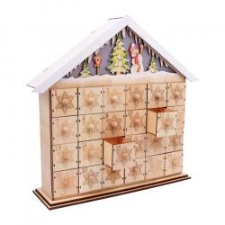 Vianočné dekorácie - Lampa Adventný Kalendár Snehuliak