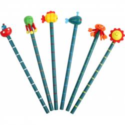 Sada drevených ceruziek Priatelia a oceán - 6ks