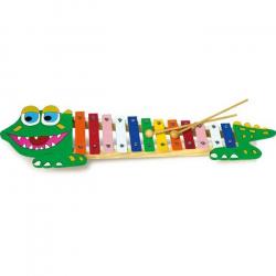 Detské hudobné nástroje - Xylofón krokodíl