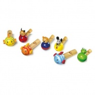 Dětské dřevěné hry - foukací píšťalka 1ks