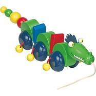 Dřevěné hračky - Dřevěný Tahací drak