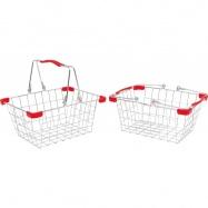 Metalowy koszyk na zakupy albo na rower 2ks