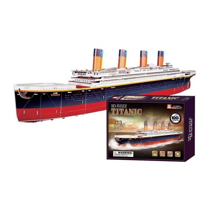 Třívrstvé pěnové 3D puzzle  - 3D Titanic