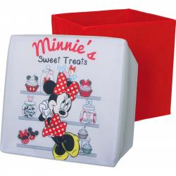 Box na hračky - Sedacie úložný box Minnie Mouse