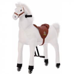 Veľký jazdecký kôň biely