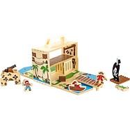 Drevená hračka - Pirátsky ostrov v kufri