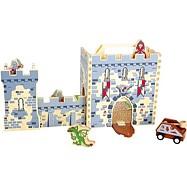Drevená hračka - Rytiersky hrad v kufri