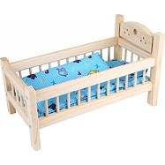 Dřevěné hračky - Postýlka pro panenky přírodní