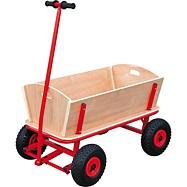 Drewniany wózek z czerwonym dyszlem Maxi Small foot