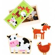 Dřevěné puzzle- Zvířatka z farmy