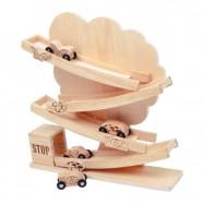 Drevené hračky - Drevený tobogán strom prírodné
