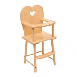 Drevená stolička pre bábiky prírodná