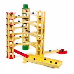 Dřevěné hračky - Kuličková dráha 80 dílů