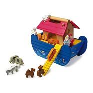 Dřevěná Noemova archa modrá