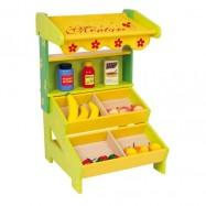 Drewniany sklep owocowo - warzywny dla dzieci Legler