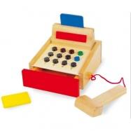 Dřevěné hračky pro holky - Dětská dřevěná pokladna